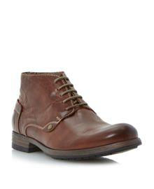 Chauffer round toe chukka lace up shoes