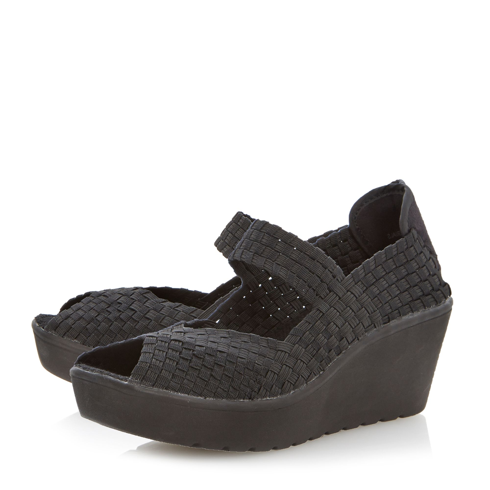Brynn sm woven elastic mary jane court shoes