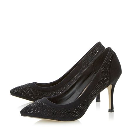 Untold Bretta Diamante Court Shoe
