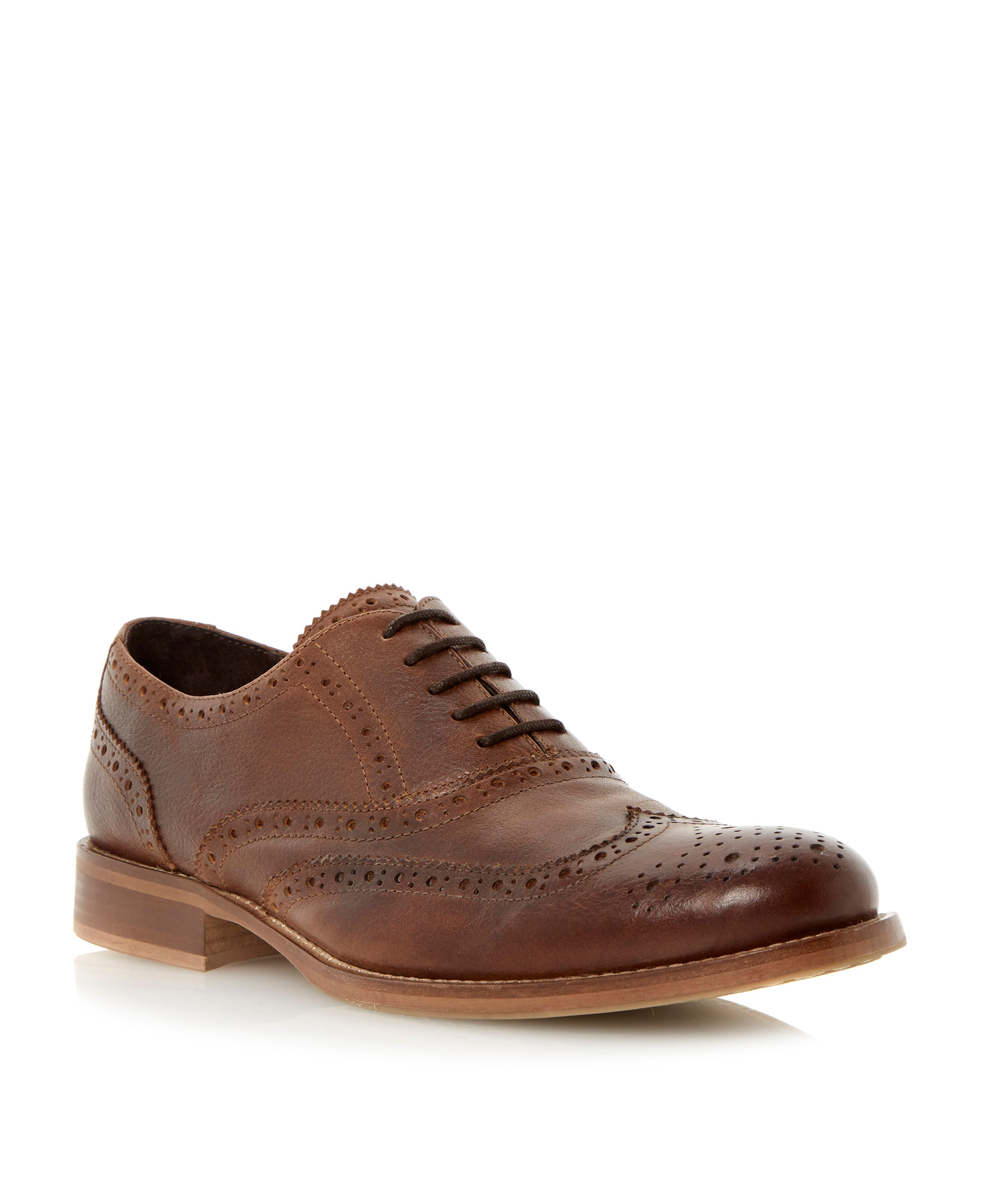 Byron leather casual lace up brogues