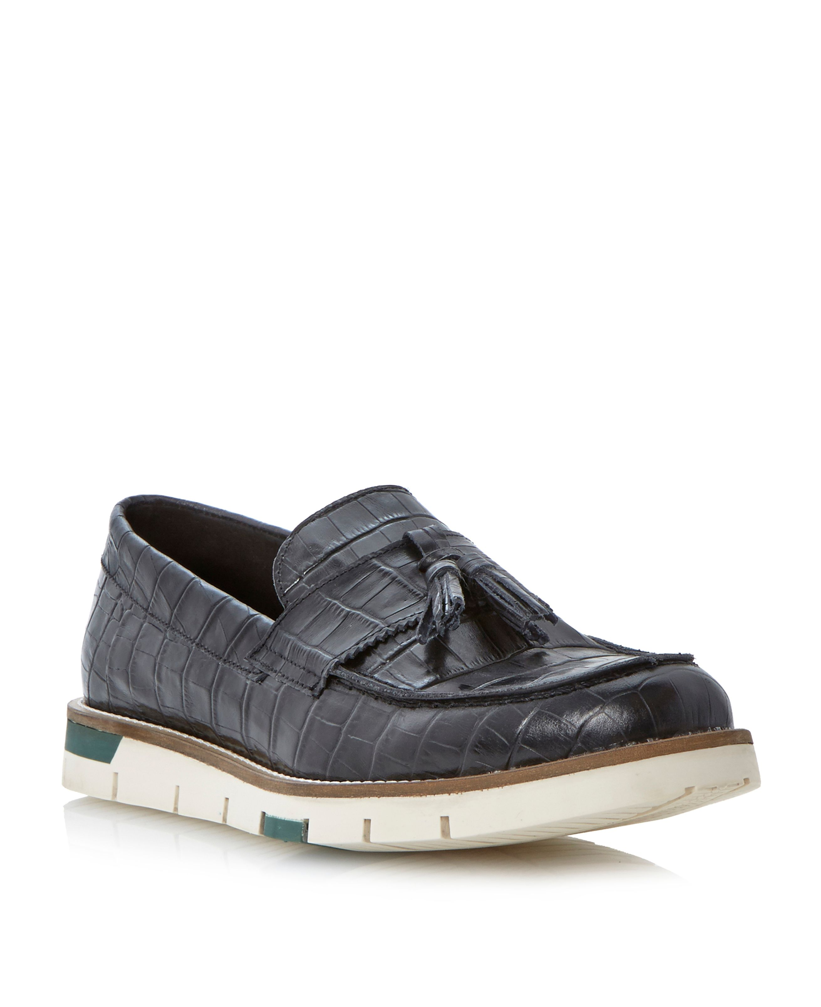 Bumpers na croc embossed tassle loafers