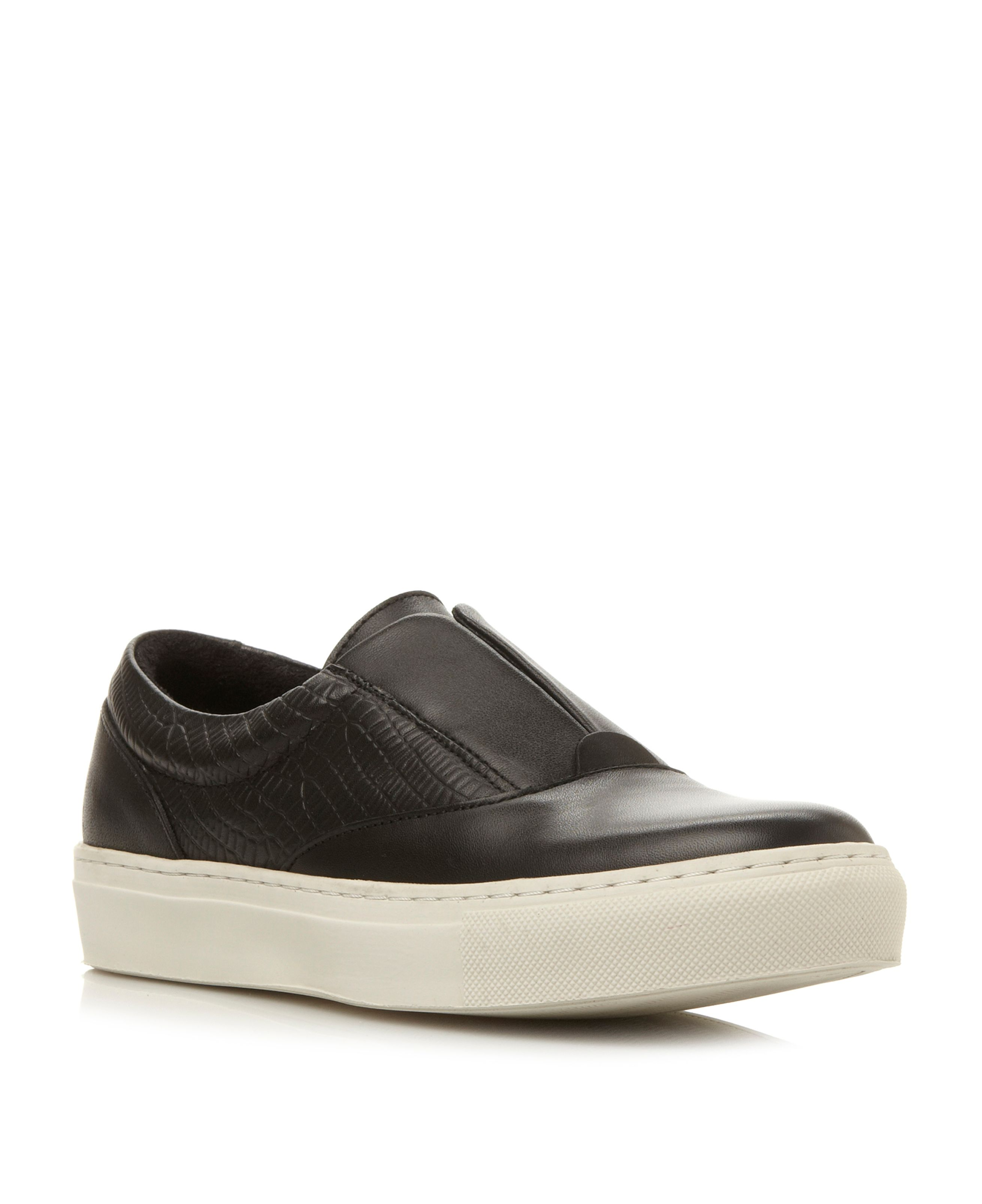 Lastic elastic slip on trainers
