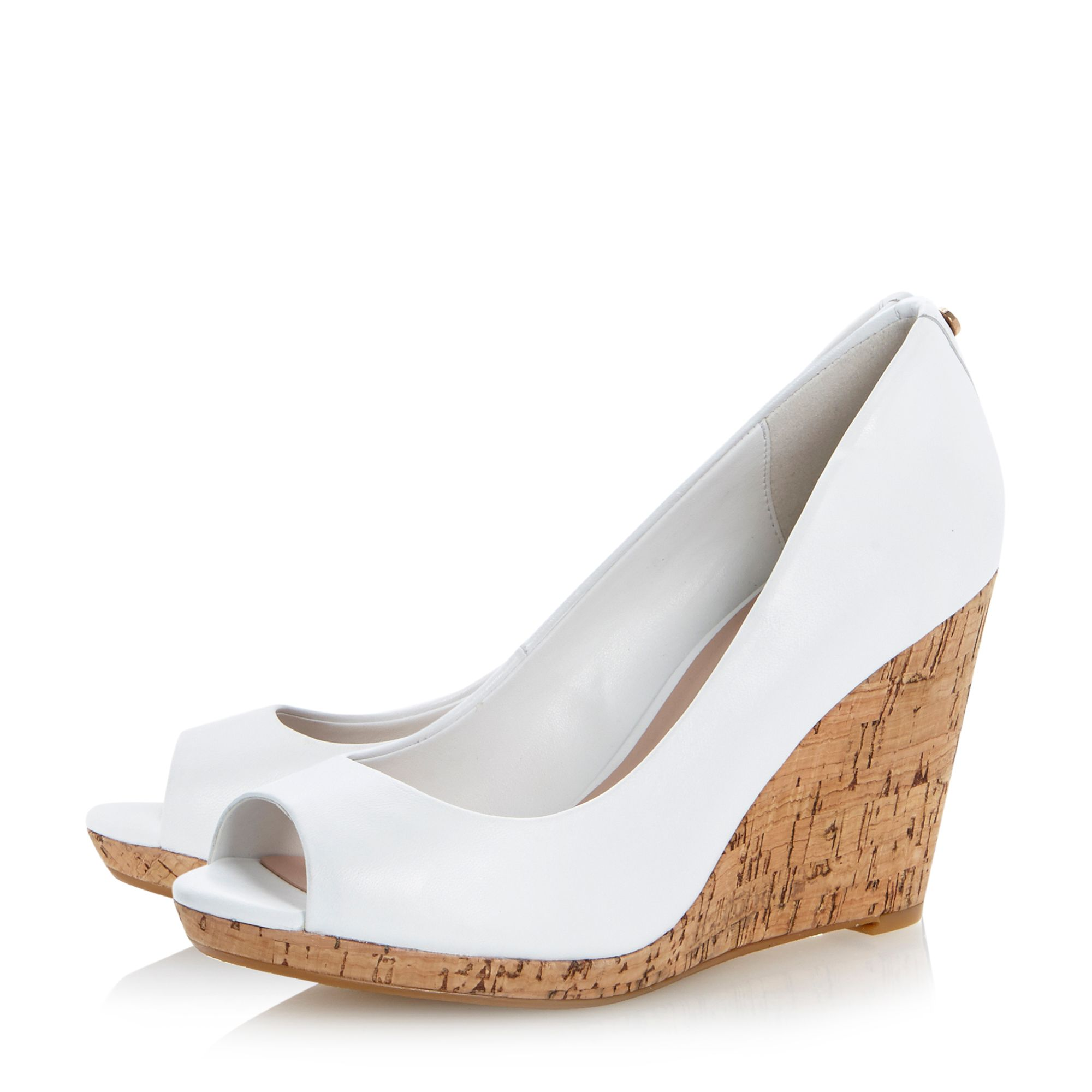 Celia peeptoe wedge court shoes