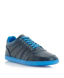 Trapper lace up colour pop sole trainers