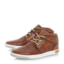 Simone lace up plain toe hi top trainers