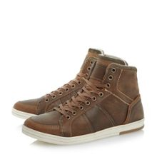 Scotch lace up warm lined hi top trainer