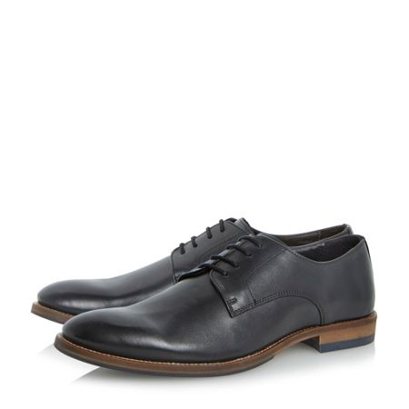 Dune Brummie lace up plain almond toe gibsons