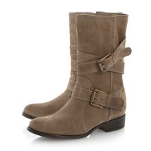 Reo Suede Slouch Calf Boot