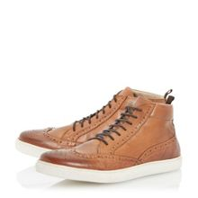 Stomper lace up hi top trainers