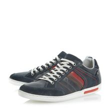 Tweet lace up leather panel detail trainers