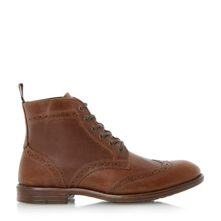 Linea Collection lace up casual brogue boots