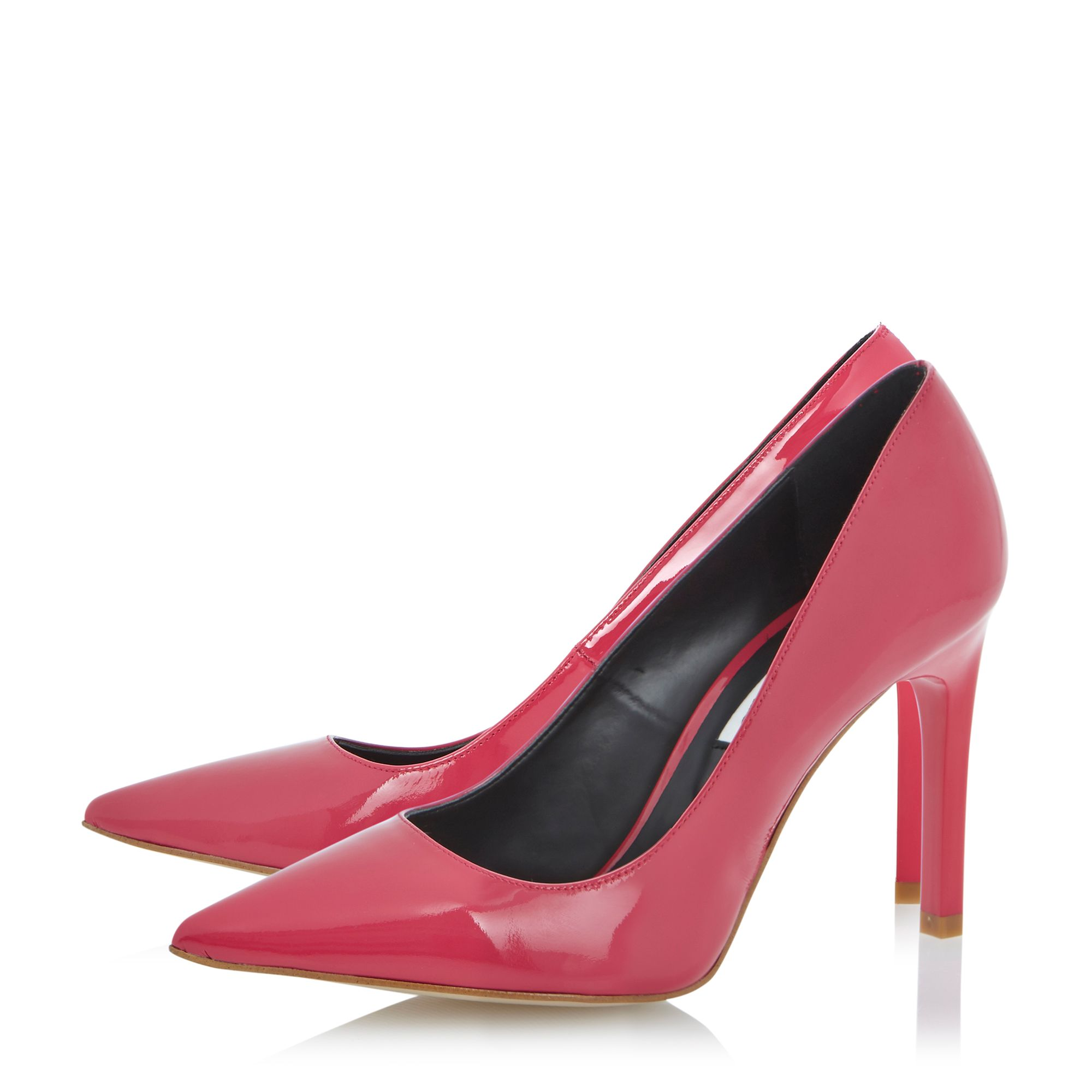 Arwenn patent pointed toe stiletto court shoes