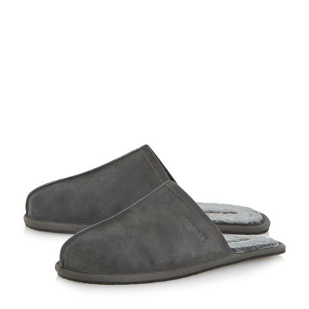 Dune Flintoff warm lined mule slippers