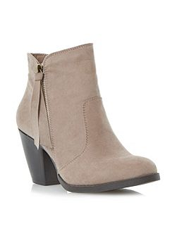 Promises cuban heel ankle boot