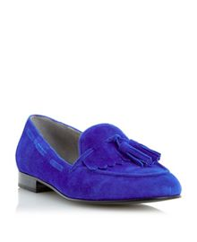Luda Suede Tassel Fringed Loafer