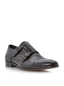Reynold double buckle monk shoes