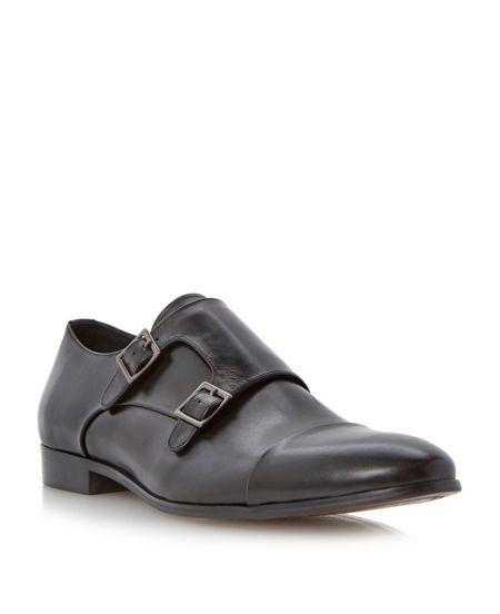 Dune Reynold double buckle monk shoes