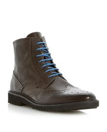 Chapter lace up contrast wingtip boots