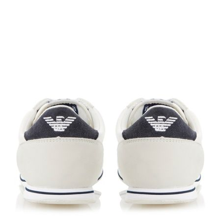 Armani Jeans Mixed Material Casual Trainers