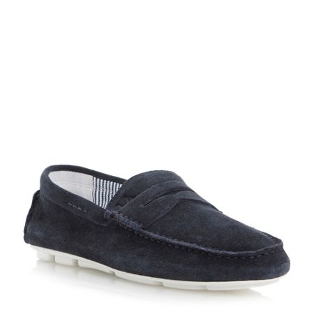 Armani Jeans Suede penny driver shoes