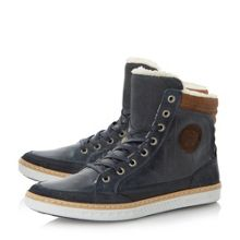 Sonny lined padded collar hi top trainers