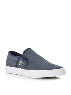 Lacoste Gazon Slip On Casual Trainers