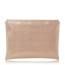 Bettie snake print foldover clutch bag