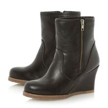 Panup Leather Wedge Boot