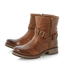 Promiss Leather Biker Ankle Boot