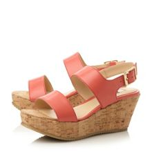 Kendell cork flatform wedges sandals