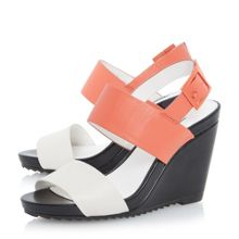 Klarrissa colour block 2 part wedge
