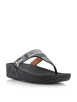 Aztek chada embellished toe post sandals