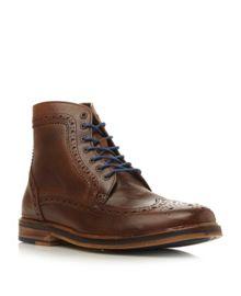 Cambridge Heath-colour pop brogue boot