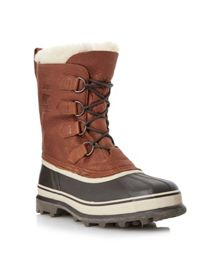Caribou lace up waterproof warm lined boots