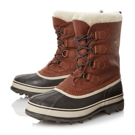 Sorel Caribou lace up waterproof warm lined boots