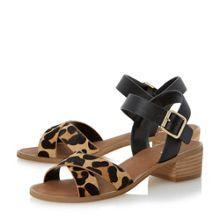Jotta crossover strap low heel sandals
