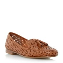 Galla laser cut leather loafers
