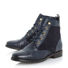 Phedra flat lace up boot
