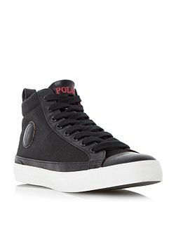 Clarke-ne toecap detail high top trainers