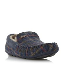 Monty tartan warm lined loafer slippers