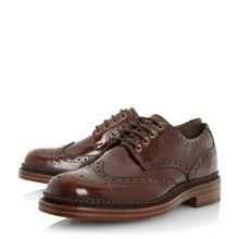 Denby high shine leather brogue shoes