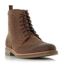 Belsay leather brogue boots