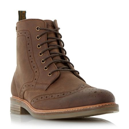 Barbour Belsay leather brogue boots