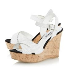 Kingdomm cross vamp wedge