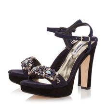 Dune Meghan suede two part jewel trim sandals
