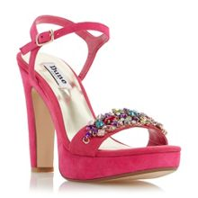 Meghan suede two part jewel trim sandals