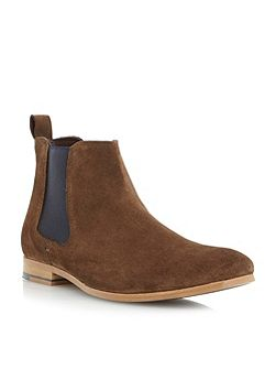 Suede Slip On Chelsea Boots