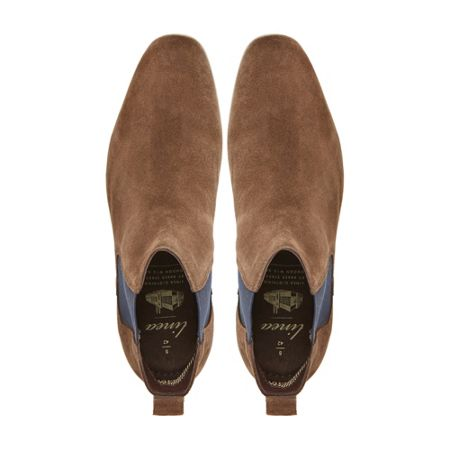 Linea Suede Slip On Chelsea Boots