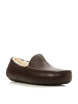 M Ascot Sheepskin Lined Suede Slipper
