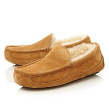M Ascott Sheepskin Lined Suede Slipper